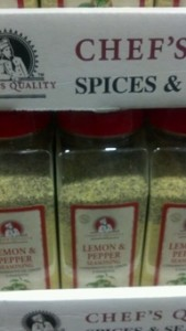 Chef's Quality Lemon and Pepper Seasoning 24 oz