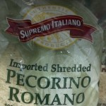 Supremo Italiano Shredded Pecorino Romano Cheese 5 lb.