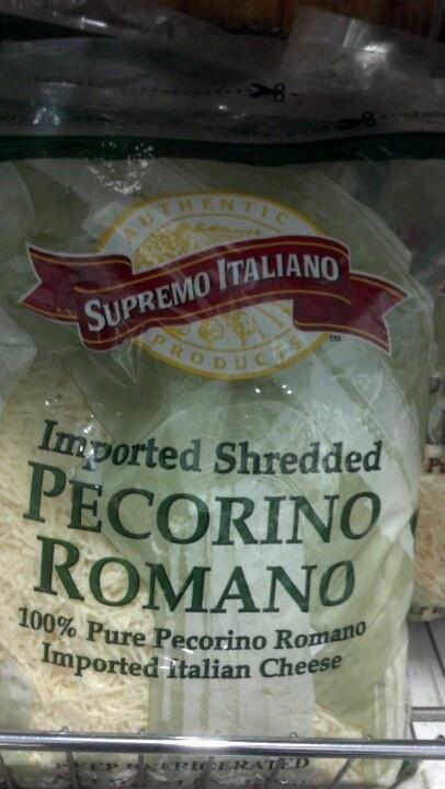 Supremo Italiano Shredded Pecorino Romano Cheese 5 lb.