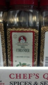 Chef's Quality Whole Coriander 9 oz