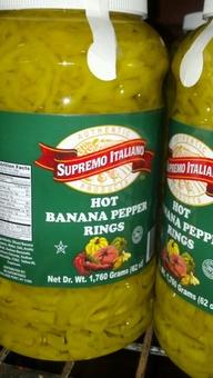 Supremo Italiano: Banana Pepper Rings 1 gallon