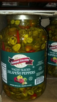 Supremo Italiano: Jalapeno Slices 1 gallon
