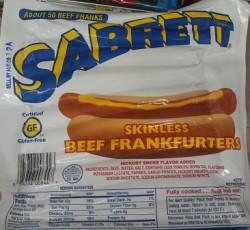 sabrett skinless beef franks